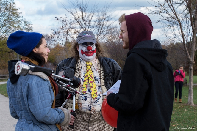 Tory Bykowski-Newton, DP; Douglas Bean, The Clown; Joe Goudreault, Director