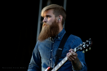 The Devil Wears Prada performs at Riot Fest Chicago on September 12, 2015 in Chicago, Illinois