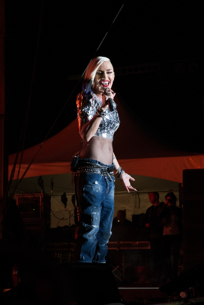 Gwen Stefani of No Doubt performs in Chicago for Riot Fest on September 11, 2015