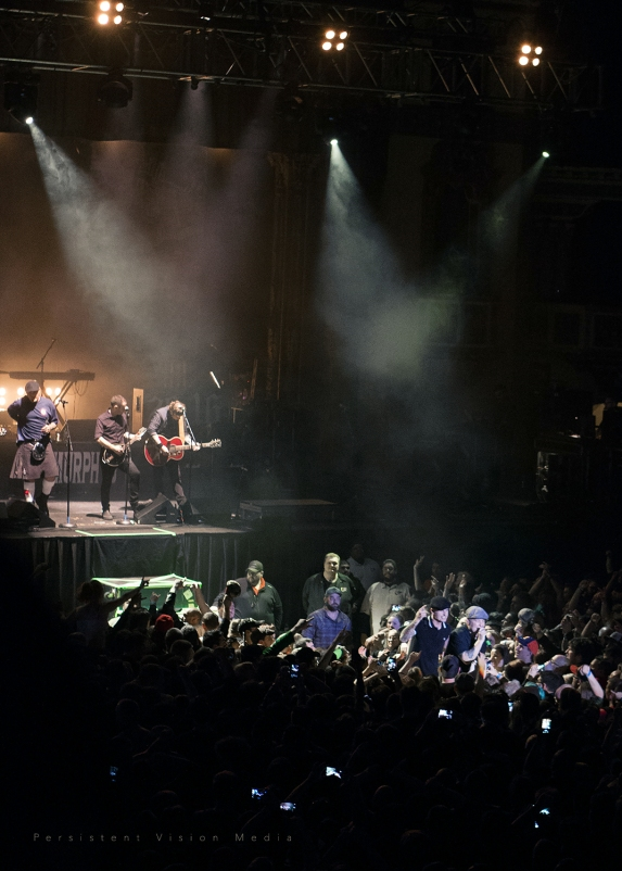 Dropkick Murphys performs at the 20 Year Anniversary Tour at Aragon Ballroom on February 19, 2016 in Chicago, Illinois.