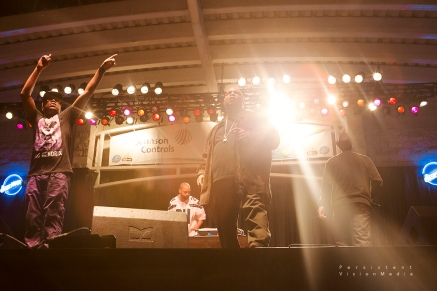Anthony Ray of Sir Mix-a-Lot performs alongside his Mix-a-Lot Crew at Summerfest on July 6, 2016