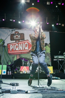 Sameer Gadhia of Young the Giant performs at 101WKQX Piqniq on June 18, 2016