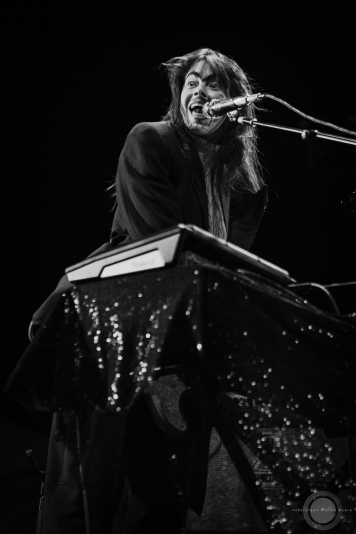 Le Butcherettes perform at a sold out show at The Sylvee in Madison, WI on November 12, 2019.